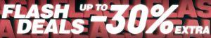 Flash Deals: 30% Rabatt auf viele ausgewählte Artikel bei Snipes