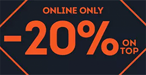 20% Rabatt auf alle nicht reduzierten Schuhe & Textlilien im SportScheck Onlineshop