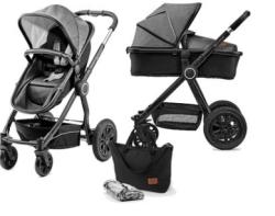 Kinderkraft Kombikinderwagen 2in1 VEO in black/grey oder grey nur 197,86 Euro