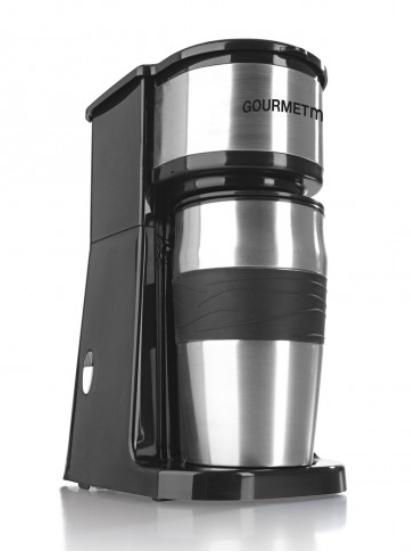 GOURMETmaxx Edelstahl-Kaffeemaschine Thermobecher in Schwarz für nur 23,90 Euro inkl. Versand