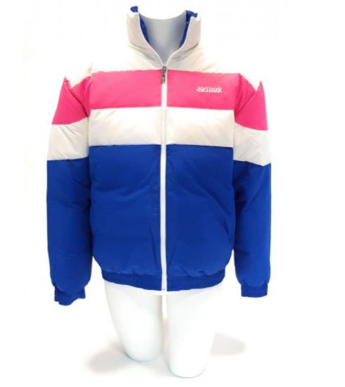 ASICS Herren Jacke Daunenjacke Winterjacke Blau Weiß Pink in S-L für nur 94,- Euro inkl. Versand