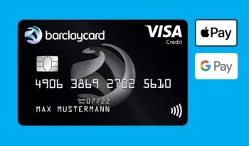 Schwarze Barclaycard Visa Karte dauerhaft kostenlos mit 50,- Euro Startguthaben