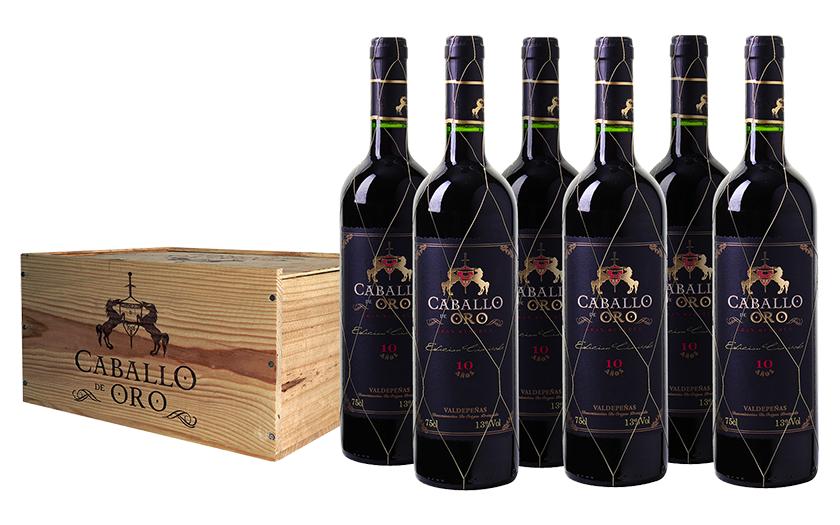 6er-Kiste Caballo de Oro Valdepeñas DO Gran Reserva für nur 50,89 Euro inkl. Versand