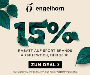 15% Rabatt auf Topmarken als engelhorn Fashion & Sports Exclusive Deal