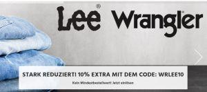 10% Extra-Rabatt auf Lee und Wrangler Jeans bei Jeans-Direct!