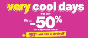 Very cool Days bei Pimkie mit bis zu 50% Rabatt auf ausgewählte Artikel und -50% Extra-Rabatt auf den 2. Artikel