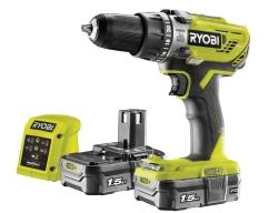 Geht noch! Ryobi R18PD3-215GZ 18 V ONE+ Akkuschrauber mit 2 x 1,5Ah Akku für 88,24 Euro bei Amazon.uk
