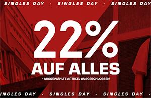 Snipes Single Day mit 22% Extra-Rabatt auf über 3.100 ausgewählte Artikel