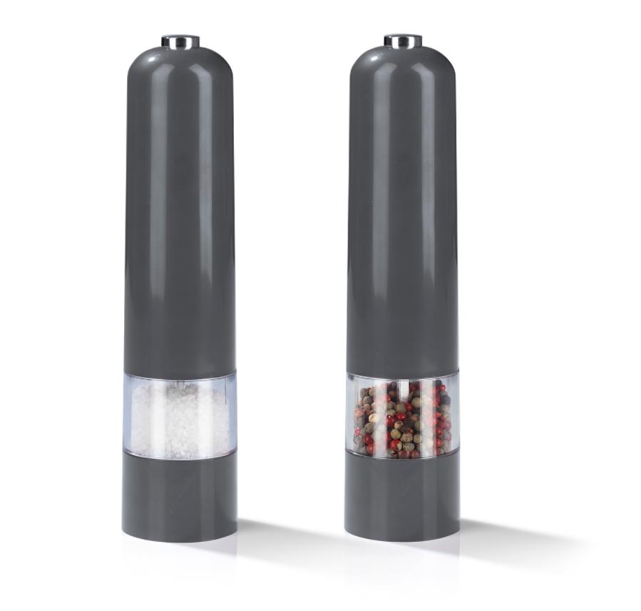 GOURMETmaxx elektrische Salz- & Pfeffermühle 2-tlg. 6V grau für nur 7,99 Euro inkl. Versand