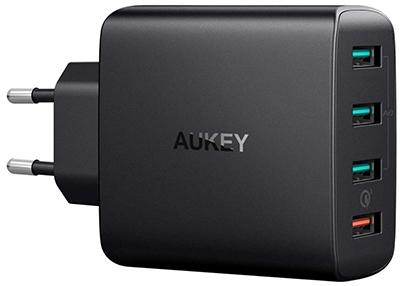 AUKEY Quick Charge 3.0 USB Ladegerät mit AiPower Tech (42W, 4 Ports) für nur 17,99 Euro