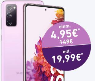 O2 Blue All-in M Tarif mit 12GB Daten für mtl. 19,99€ + Samsung Galaxy S20 FE für nur einmalig 4,95€