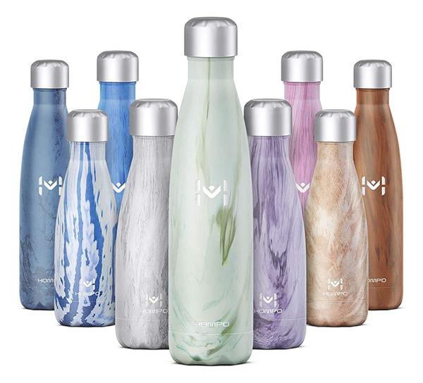 HOMPO Edelstahl Trinkflasche in verschiedenen Größen ab nur 6,79 Euro
