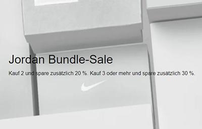 Jordan Bundle Sale im Nike Onlineshop mit bis zu 30% Rabatt beim Kauf von 3 Artikeln