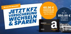 Bis 30. November: KFZ-Versicherung wechseln und 60€ Amazon oder BestChoice Gutschein erhalten!