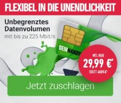 Deinhandy.de: MD Free Unlimited Max Flex Sim-Only Tarif für 29,99 Euro pro Monat (mtl. kündbar)