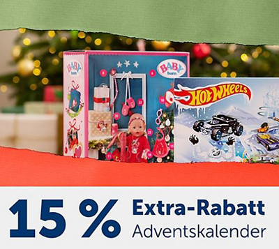 15% Extrarabatt auf alle Adventskalender im myToys Onlineshop
