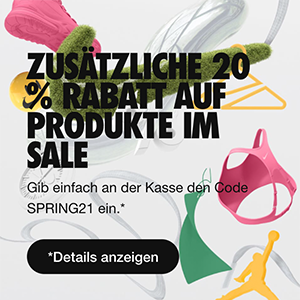 Top! Großer Nike Sale mit bis zu 50% Rabatt + 20% Extra-Rabatt