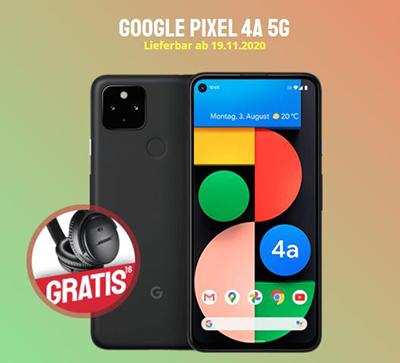 Google Pixel 4A 5G + o2 Free M LTE Tarif mit 20GB für 23,99 Euro mtl. und einmalig 49,- Euro Zuzahlung