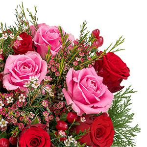 Rosenstrauß Winterzauber für nur 24,98 Euro inkl. Versand + gratis Vase!