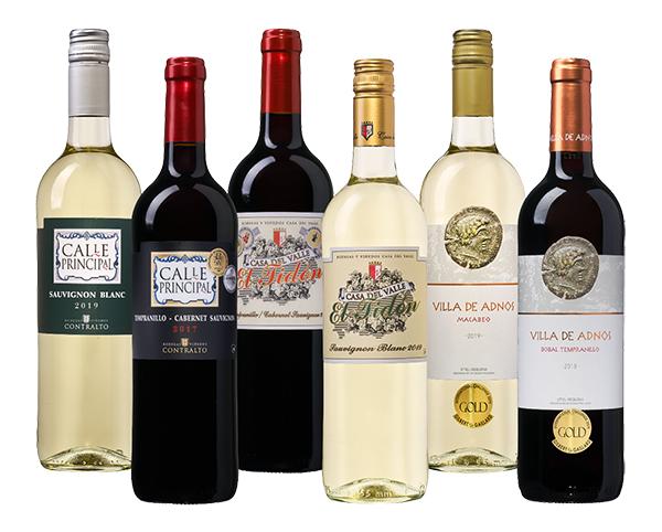 Spanisches Weinpaket (3x Rot und 3x Weiß) für nur 29,99 Euro inkl. Lieferung
