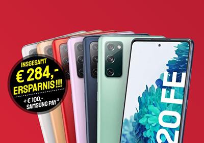 Samsung Galaxy S20FE + o2 Free M LTE Tarif mit 20GB für 23,99 Euro mtl. und einmalig 9,- Euro Zuzahlung mit 100,- Euro Samsung Pay Guthaben geschenkt