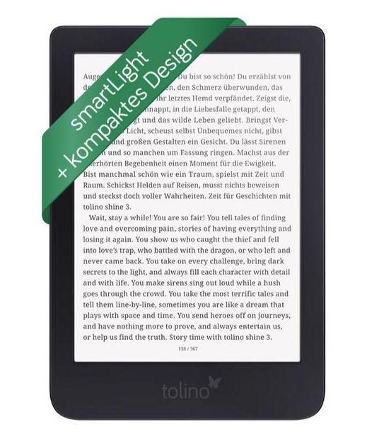 Tolinoshine 3 eBook-Reader für nur 79€ inkl. Versand