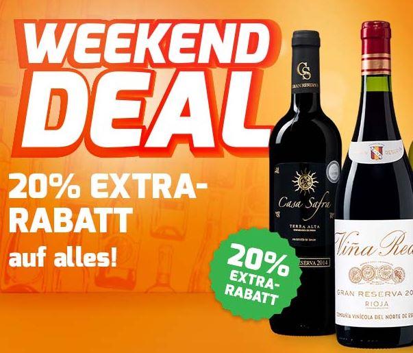 20% Extra-Rabatt auf alle Weine bei Weinvorteil