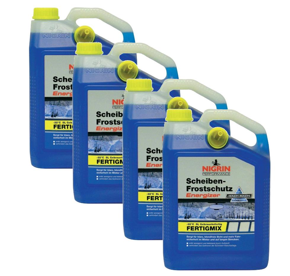 4 x 5 Liter Nigrin Scheiben-Frostschutz Energizer -22°C für nur 19,99 Euro inkl. Versand