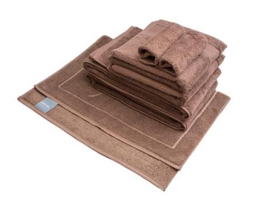 DESCAMPS Handtuch & Duschhandtuch & Waschlappen & Duschmatte – 7-teiliges Set – Farbe cacao für nur 15,99 Euro inkl. Versand