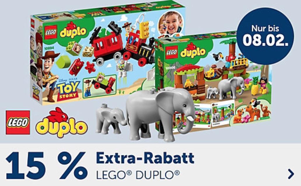 15% Rabatt auf Lego Duplo Artikel im myToys Onlineshop