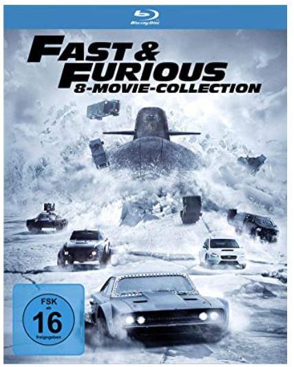 Fast & Furious Blu-ray Movie Collection mit 8 Filmen für nur 18,83 Euro