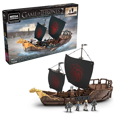 Dracarys! Mega Construx GPB29 Probuilder Game of Thrones Targaryen Kriegsschiff (723 Teile, 4 Figuren) für nur 59,99 Euro