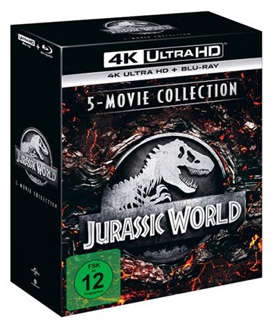 Jurassic World – 5-Movie Collection (4K Ultra HD Blu-ray ) für nur 70,93 Euro (statt 93,- Euro)