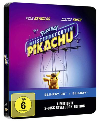 Pokémon Meisterdetektiv Pikachu 3D + 2D Steelbook [Blu-ray] für nur 15,64 Euro