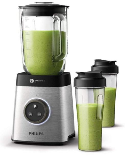 Philips HR3655/00 Standmixer (1400 Watt, ProBlend 6 3D Technologie, 2 Liter) mit 2x Trinkbecher für nur 84,54€ inkl. Versand