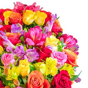 Blumenstrauß Rosenglück XXL mit über 120 Blüten für 25,98€