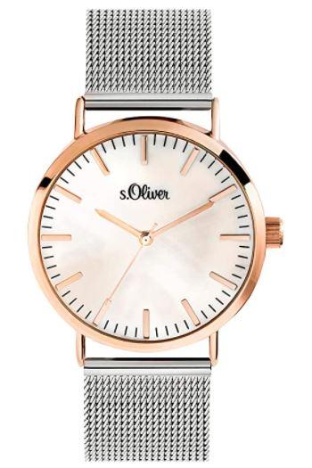 s.Oliver SO-3669-MQ Damen Analog Quarz Armbanduhr für nur 43,28 Euro