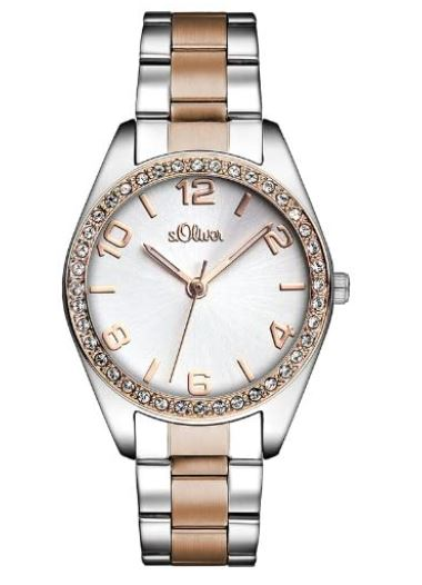 s.Oliver Time Damen Quarz Uhr mit Edelstahl Armband für nur 29,- Euro (statt 62,- Euro)