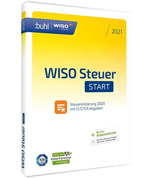 WISO Steuer-Start 2021 Standard Disc Version (für Steuerjahr 2020) für nur 11,19 Euro