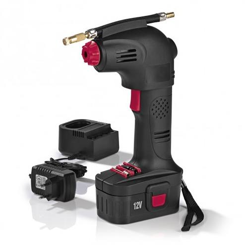 EASYmaxx Akku-Handkompressor 12V 8 bar schwarz/rot für nur 32,99 Euro inkl. Versand