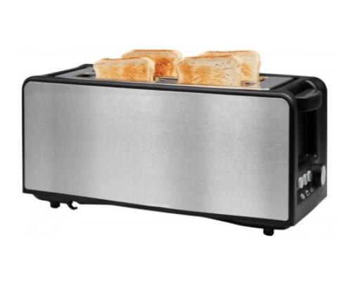 Edelstahl Langschlitz-Toaster für 4 Scheiben mit LED Auftaufunktion für nur 19,99 Euro inkl. Versand