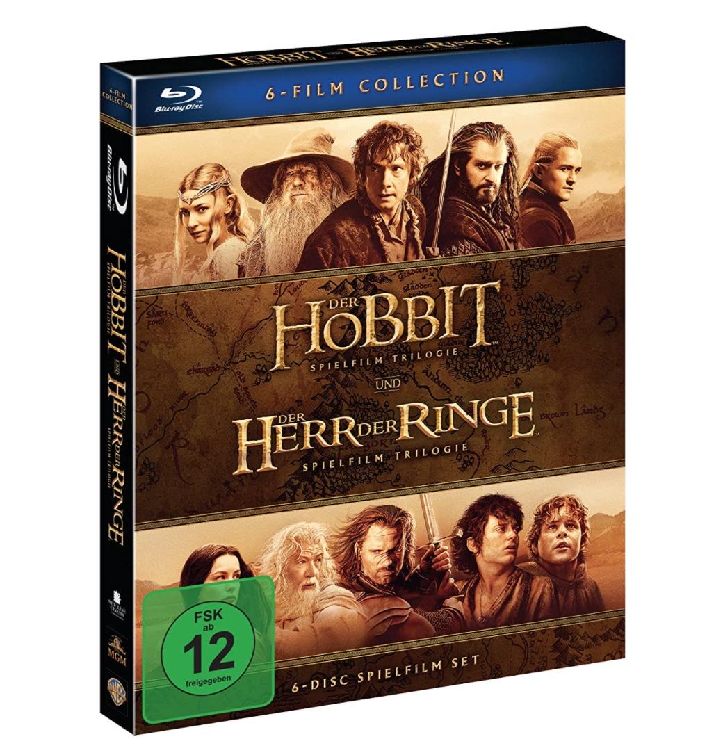 Der Hobbit und Der Herr Der Ringe: Mittelerde Collection [Blu-ray] für nur 19,59 Euro