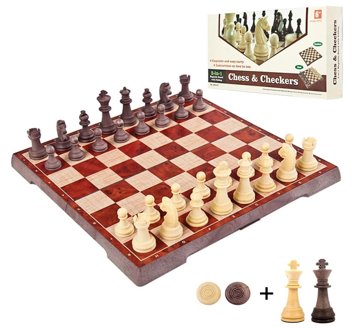 Lixada magnetisches 2 in 1 Schachspiel für nur 21,99 Euro