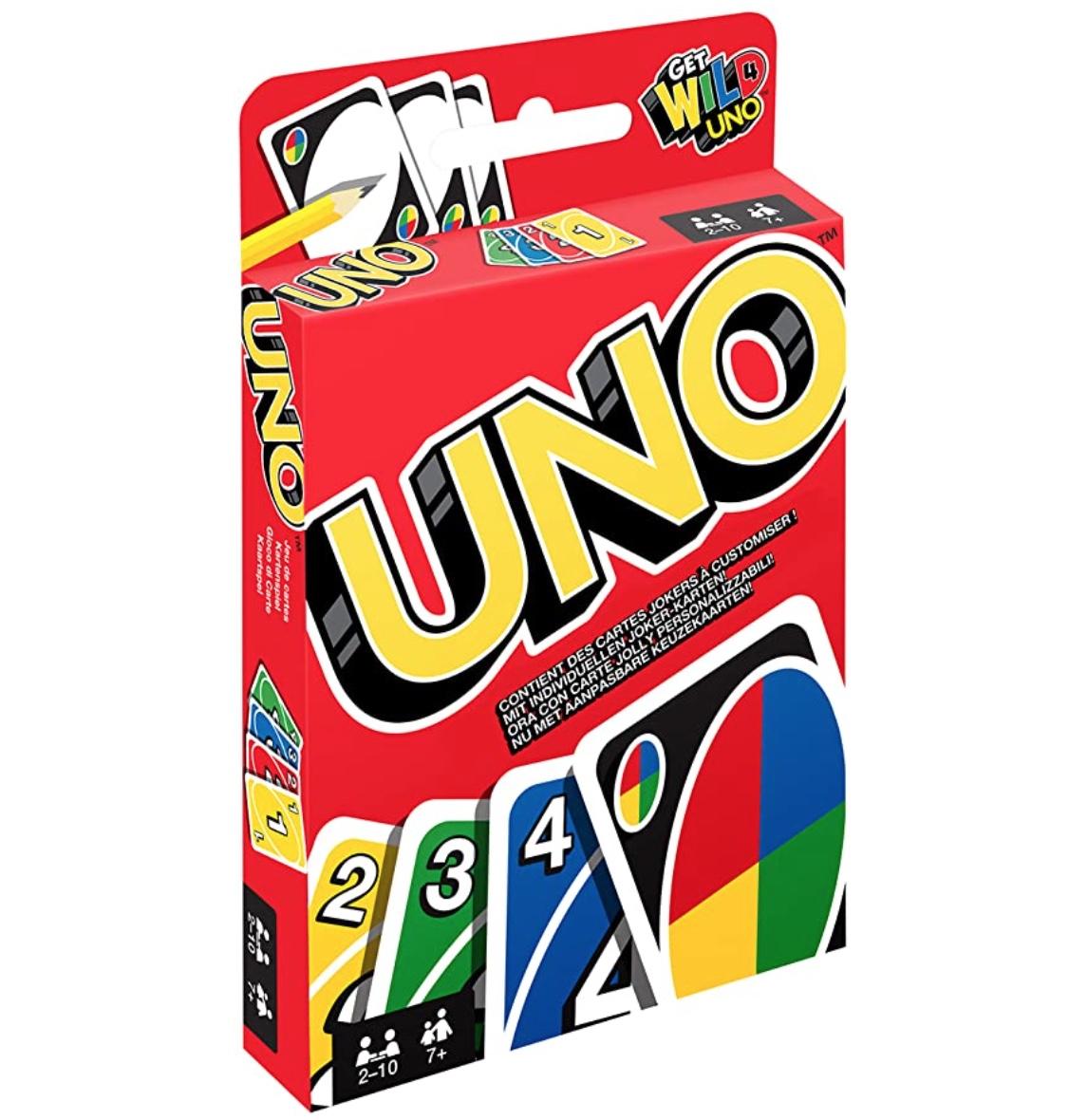 Mattel Games W2087 – UNO Kartenspiel für nur 3,99 Euro für Prime-Mitglieder