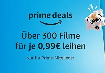 Verschiedene Filme bei Amazon Prime Video für je nur 0,99 Euro leihen