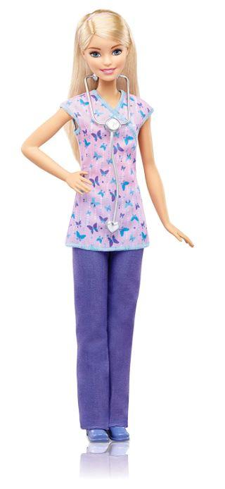 Mattel Barbie DVF57 – Ich wäre gern Krankenschwester Puppe + Zubehör für nur 8,04 Euro