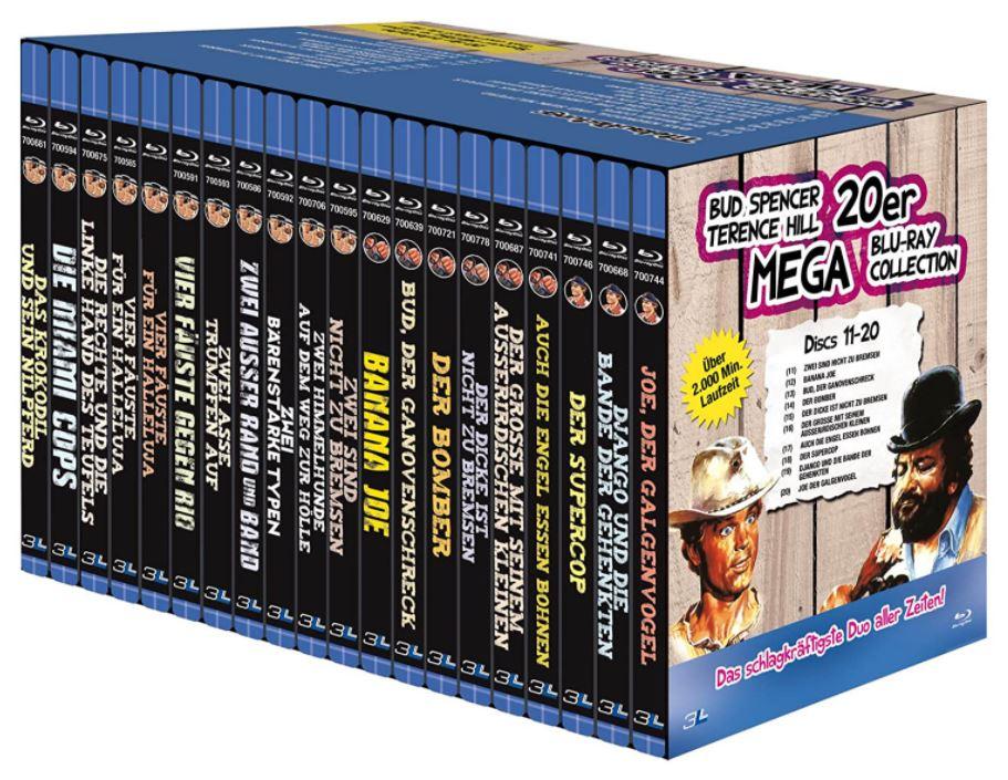 Bud Spencer & Terence Hill – 20er Mega Blu-ray Collection (20 Discs) für nur 66,43 Euro (statt 110,- Euro)