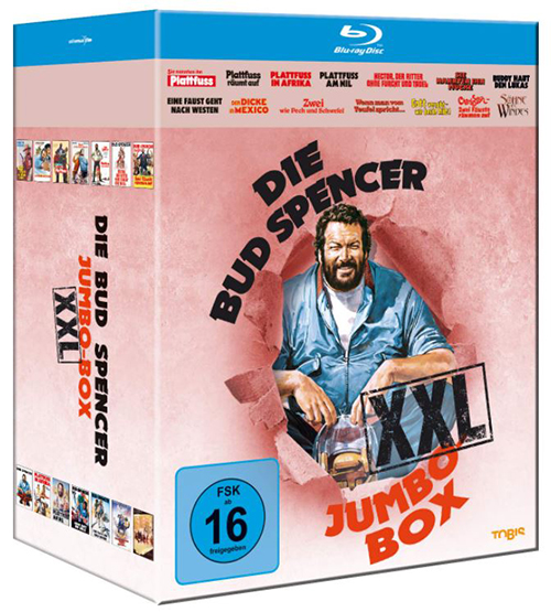 Die Bud Spencer Jumbo Box XXL [Blu-ray] für nur 39,97 Euro (statt 52,- Euro)