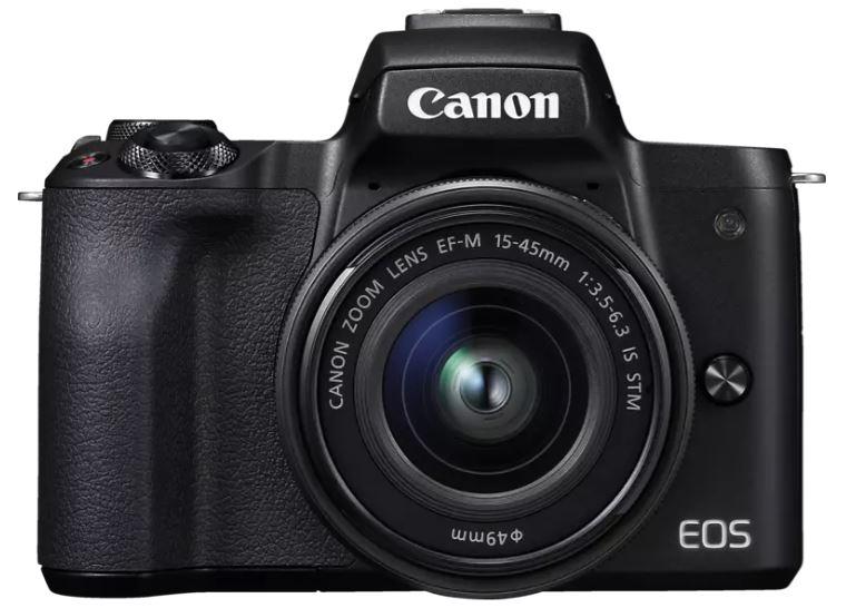 CANON EOS M50 Systemkamera Kit mit 15-45 mm Objektiv, Tasche und 16GB Speicherkarte für nur 434,- Euro