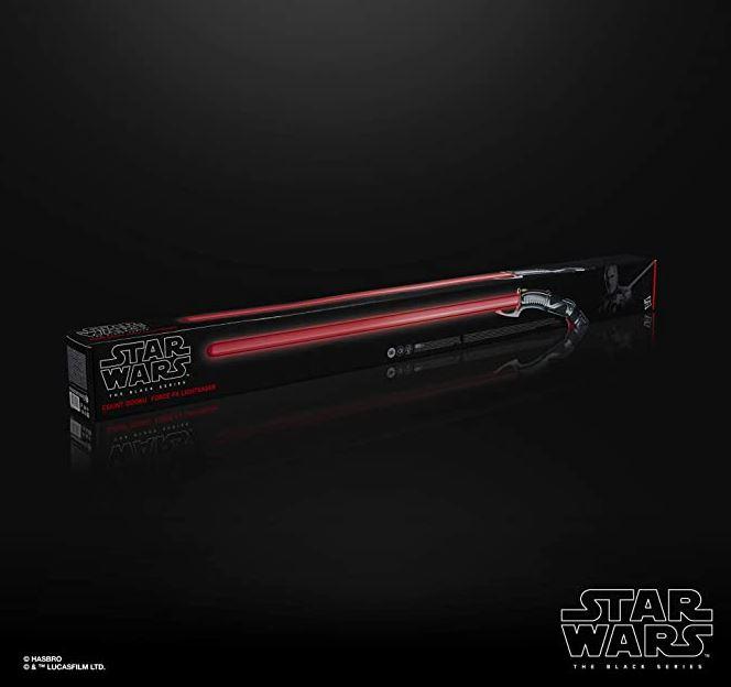 Komm auf die dunkle Seite der Macht! Star Wars The Black Series Count Dooku Force FX Lichtschwert für nur 135,- Euro (statt 176,- Euro)